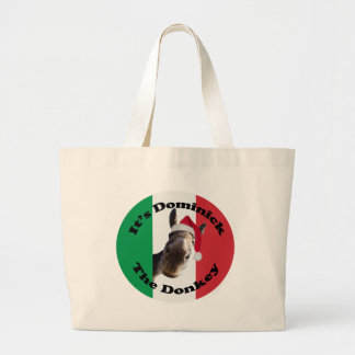 dominick the donkey large tote bag
