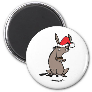 Dominick the Donkey 6 Cm Round Magnet