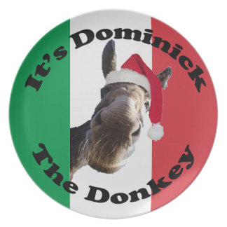 dominick the donkey plate