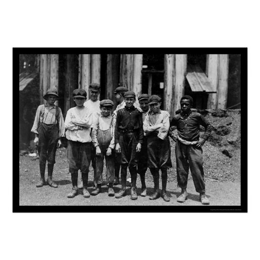Dominion Glass Factory Worker Boys 1911 Poster