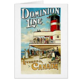 Dominion Line ~ Liverpool to Canada Card