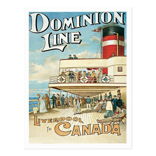 Dominion Line Liverpool To Canada Postcards