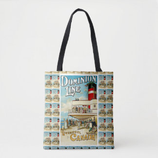 Dominion Line ~ Liverpool to Canada Tote Bag