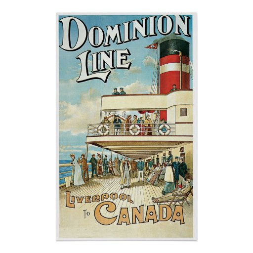 Dominion Line UK Ship Posters