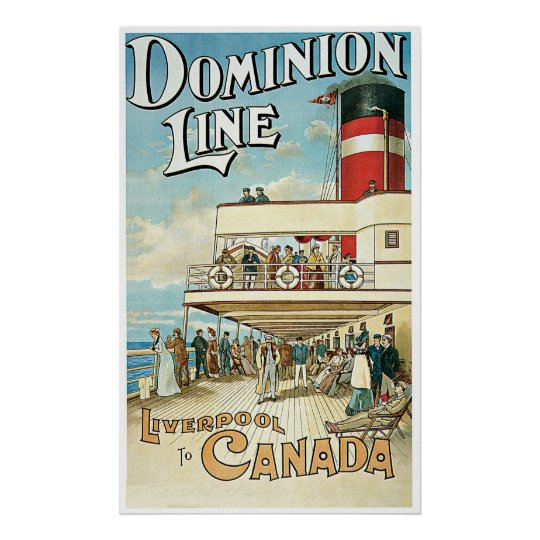 Dominion Line UK Ship Poster