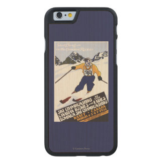 Dominion Ski Championship Poster Carved Maple iPhone 6 Case