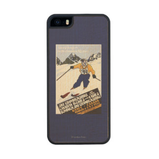 Dominion Ski Championship Poster Carved® Maple iPhone 5 Slim Case