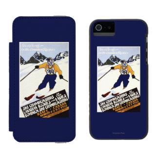 Dominion Ski Championship Poster Incipio Watson™ iPhone 5 Wallet Case