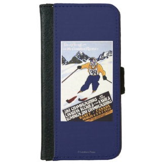 Dominion Ski Championship Poster iPhone 6 Wallet Case