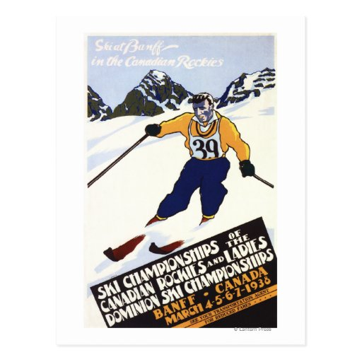 Dominion Ski Championship Poster Postcard