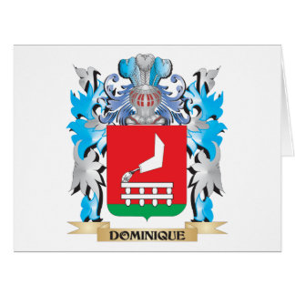 Dominique Coat of Arms - Family Crest Greeting Cards