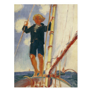 Dominique on the Isard, 1923 Postcard