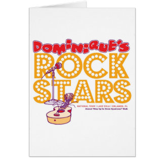 Dominique's Rock Stars Greeting Card