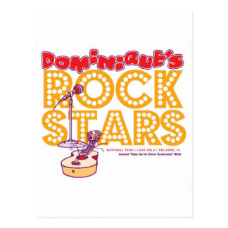 Dominique's Rock Stars Postcard