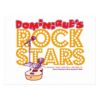Dominique's Rock Stars Postcard