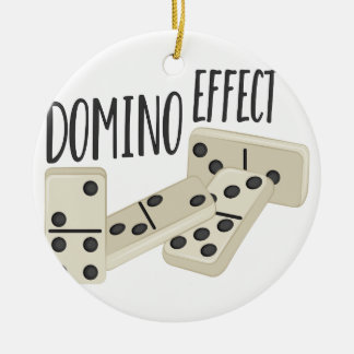 Domino Effect Round Ceramic Decoration