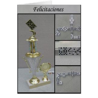 domino Felicitaciones Card