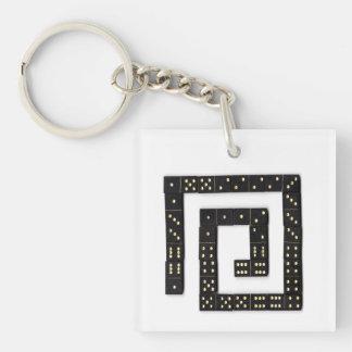 Domino Spiral Keychain