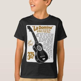 Domino Uke Ad Kid's dark short sleeve T-Shirt