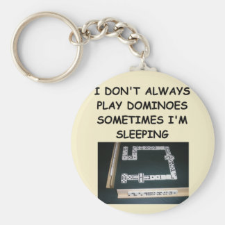dominoes basic round button key ring
