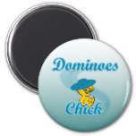 Dominoes Chick #3 6 Cm Round Magnet