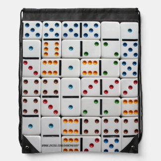 Dominoes Drawstring Backpack