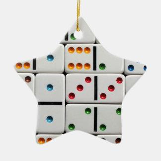 Dominoes ornament