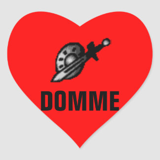 DOMME HEART STICKER