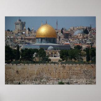 Domo of the Rock in Jerusalem Poster