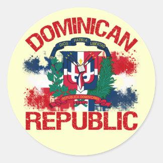 Domonican Republic Round Sticker
