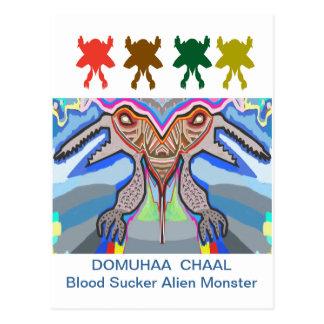 DOMUHAA  CHAAL - Blood Sucker Alien Monster Postcard
