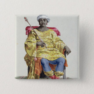 Don Alvares, King of the Congo, from 'Receuil des 15 Cm Square Badge