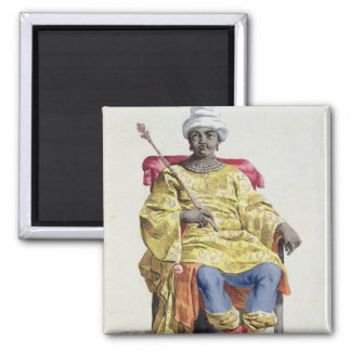 Don Alvares, King of the Congo, from 'Receuil des Square Magnet
