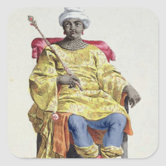 Don Alvares, King of the Congo, from 'Receuil des Square Sticker