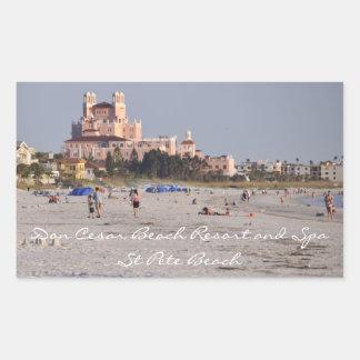 Don Cesar, St. Pete Beach Rectangular Sticker