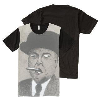 Don Charcoal with a Smoke Black and White Charcoal All-Over Print T-Shirt