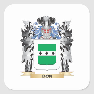Don Coat of Arms - Family Crest Square Sticker