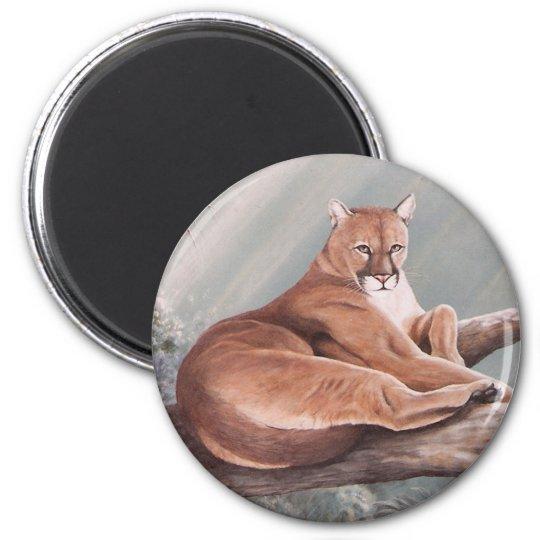 Don Corle-cougar 6 Cm Round Magnet