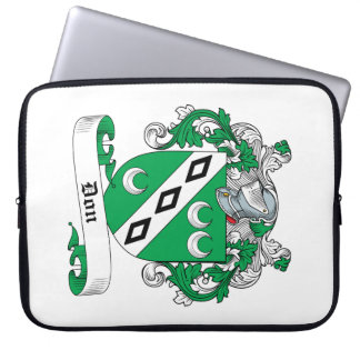 Don Family Crest Laptop Computer Sleeve