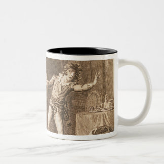 Don Giovanni and the statue of the Commandantore Two-Tone Coffee Mug