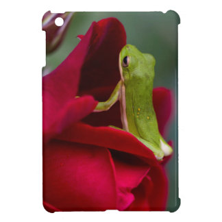 Don Juan Red Rose and Green Tree Frog iPad Mini Cover
