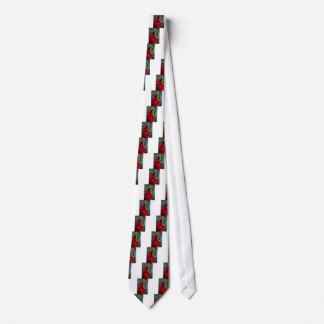 Don Juan Red Rose and Green Tree Frog Tie
