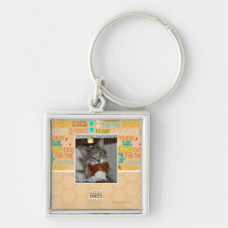 Don looks Silver-Colored square key ring