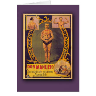 Don Manuelo, Tattooed Man on Cards, Postcards Greeting Card