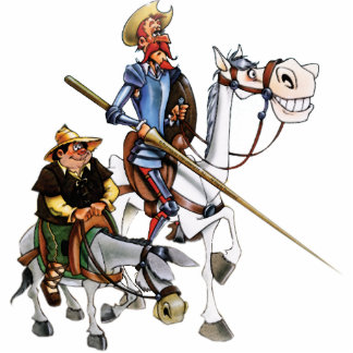 DON QUIJOTE & SANCHO -Keychain Sculpture. Acrylic Cut Out