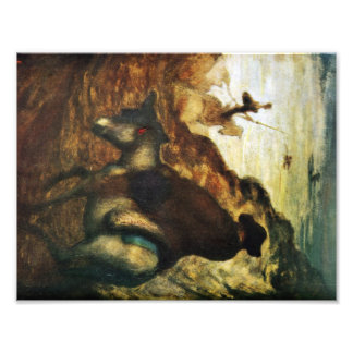 Don Quixote and Sancho Pansa by Honore Daumier Photo Print
