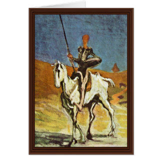 Don Quixote And Sancho Panza By Daumier Honoré (Be Greeting Cards