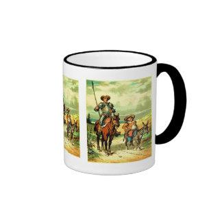 Don Quixote and Sancho Panza Coffee Mugs