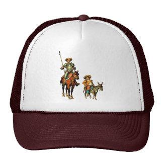 Don Quixote and Sancho Panza Mesh Hats