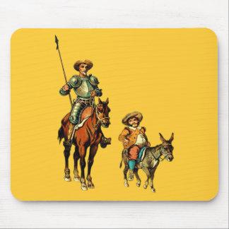 Don Quixote and Sancho Panza Mousepads